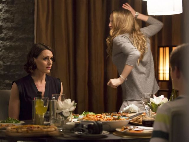 Suranne Jones and Jodie Comer in BBC One's Doctor Foster