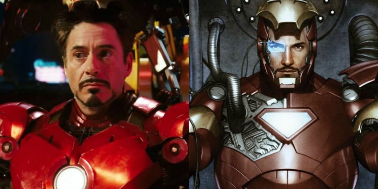 Image result for Robert downey jr ironman comic book comparison