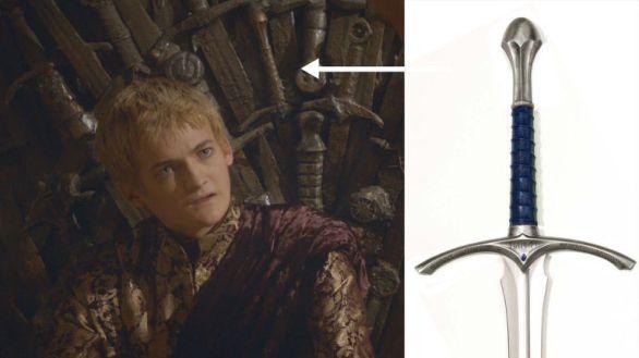 Gandalf's sword in Game of Thrones
