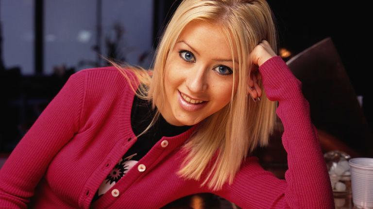 American singer Christina Aguilera, circa 1995.