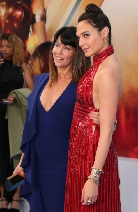Patty Jenkins and Gal Gadot attend the premiere of Warner Bros. Pictures' 'Wonder Woman'