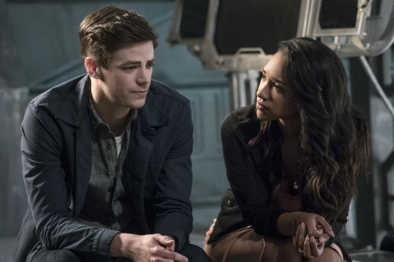 Barry Allen and Iris West in 'The Flash'