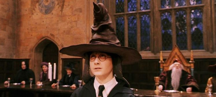 Harry Potter's first day at Hogwarts with Sorting Hat