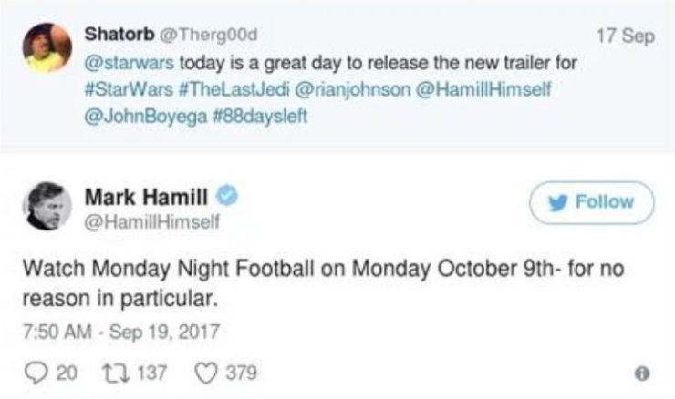 mark hamill, star wars, tweet excluído