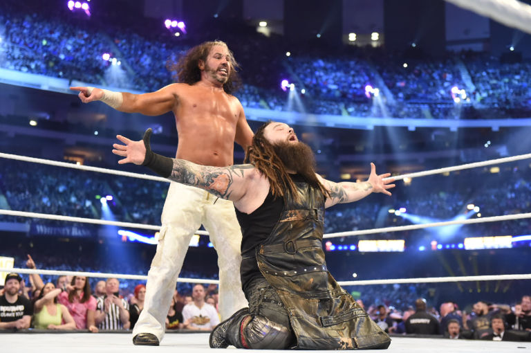 Image result for Matt Hardy and Bray Wyatt at WrestleMania 34