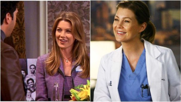 """BeforeGrey's Anatomy, Pompeo played Missy Goldberg, a college crush of Ross and Chandler whoMrBingscored with, despite the boys having a """"pact""""not to hit on her."""
