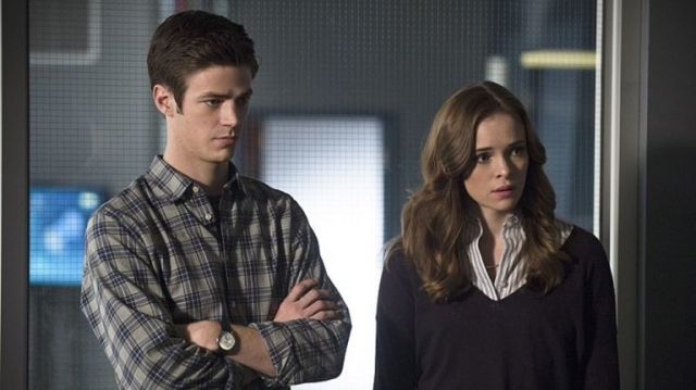 Barry and Caitlin on The Flash