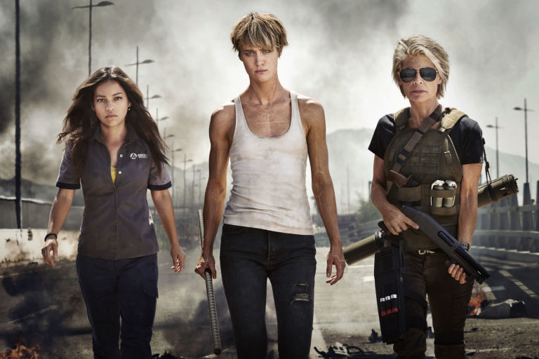 OFFICIAL FIRST LOOK AT THE WOMEN OF THE NEW Terminator 6: Natalia Reyes, Mackenzie Davis and Linda Hamilton