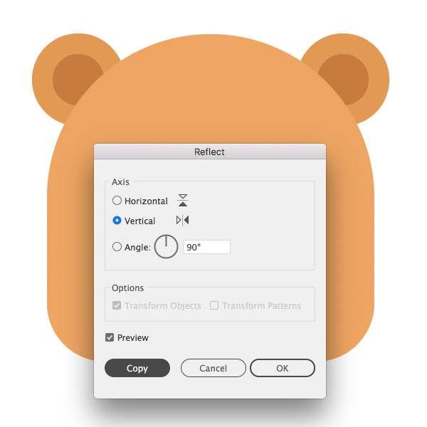 Membuat Icon Flat Design Character Beruang tahap 05