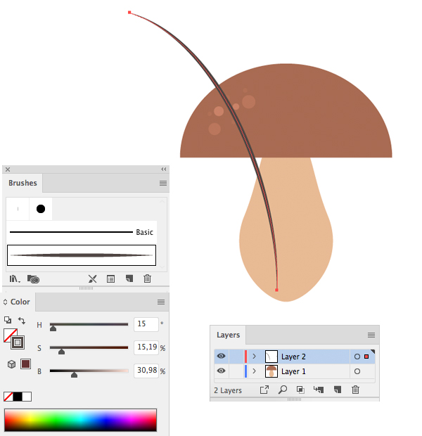 Membuat Jamur Flat Design Vector di Adobe Illustrator 09