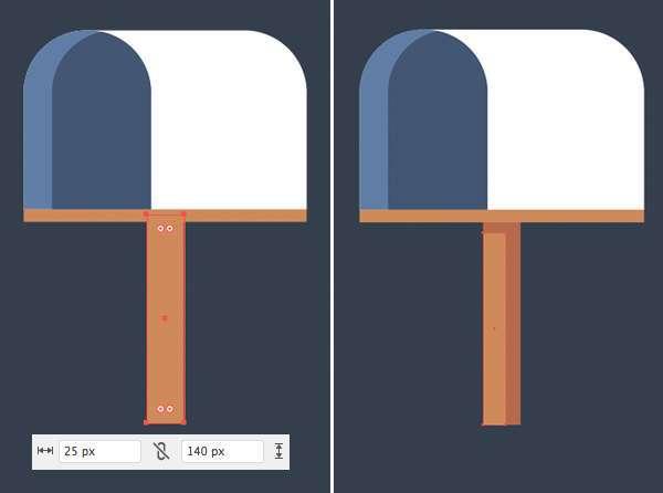 Tutorial Icon Flat Design Kotak Surat di Adobe Illustrator 06