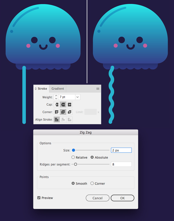 Tutorial Karakter Design Tahap 8-jellyfish