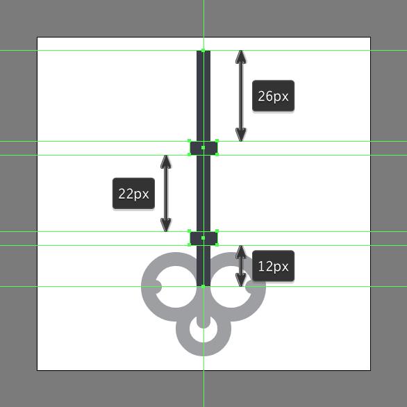 Tutorial Ikon Flat Design Kunci Kuno di Adobe Illustrator 07