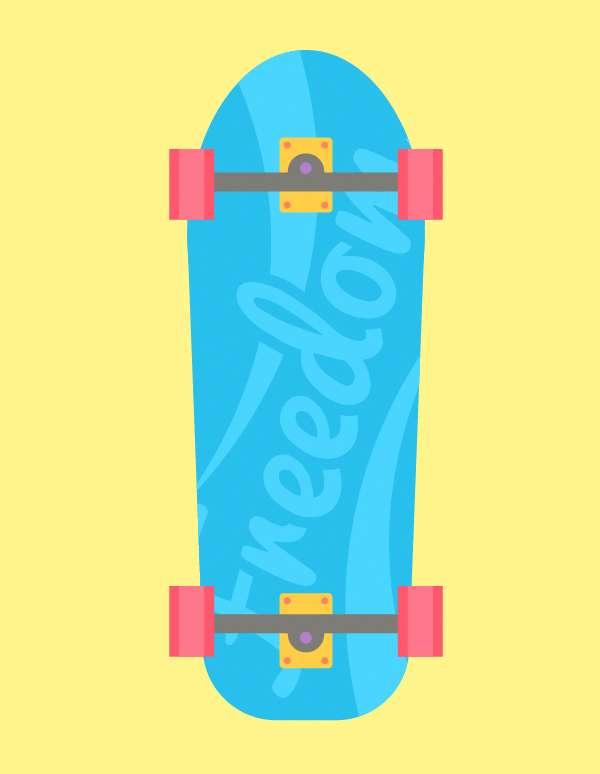 Tutorial Membuat Flat Design Skateboards Menggunakan Adobe Illustrator 10