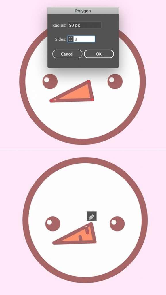 Tutorial Membuat Ikon Karakter Snowman di Adobe Illustrator 06