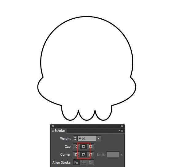 Tutorial Vektor Flat Design Tengkorak di Adobe Illustrator 03