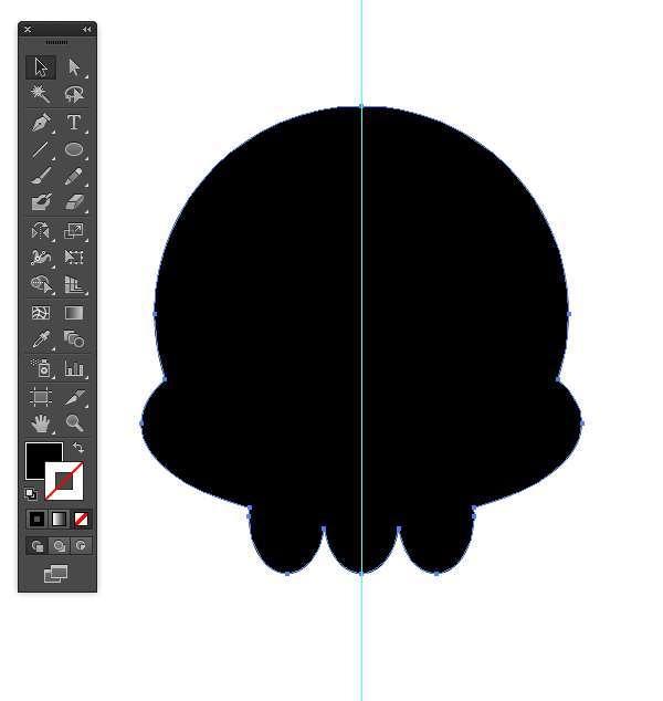 Tutorial Vektor Flat Design Tengkorak di Adobe Illustrator 12
