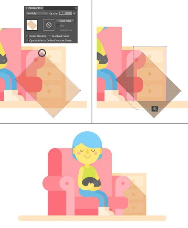 Tutorial Membuat Interior Flat Desain Flat di Adobe Illustrator CC 23