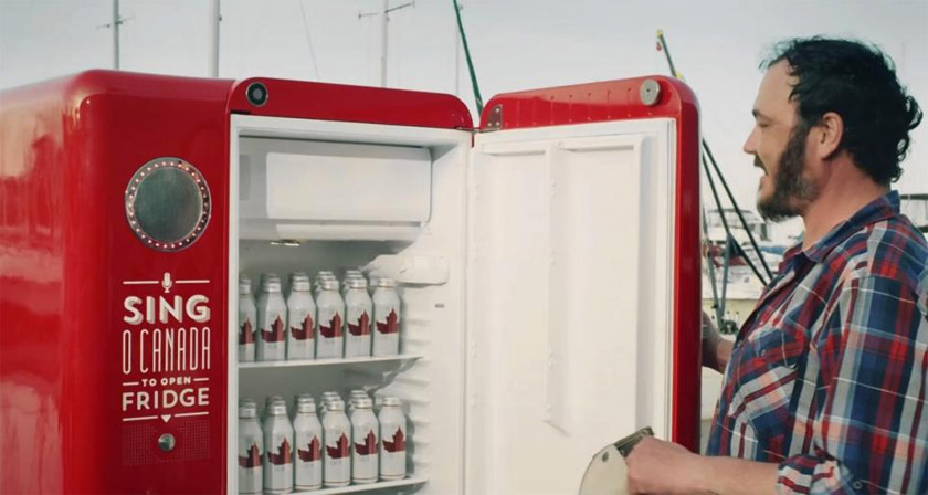 This Fridge Gives You Free Beers If You Sing The Canadian