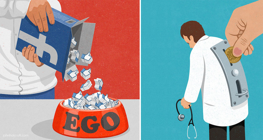 32 Brilliant Illustrations That Show Whats Wrong With Society Today