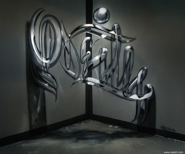 3d Graffiti Effect Amanda
