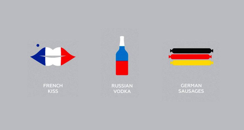Clever Flag Colored Icons Of Countries Based On Their