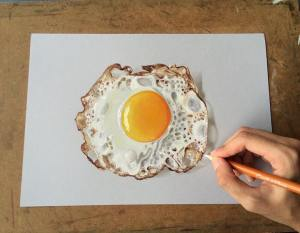 drawings egg artist hyperrealistic fried sushant rane realistic arts