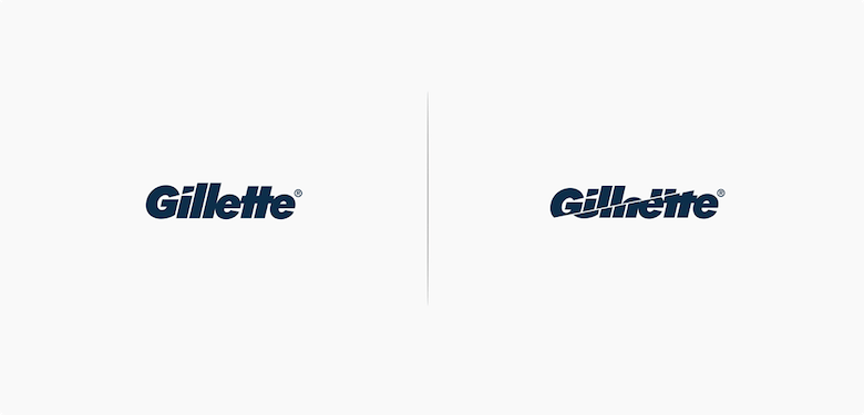 Famous logos affected by their products - Gillette