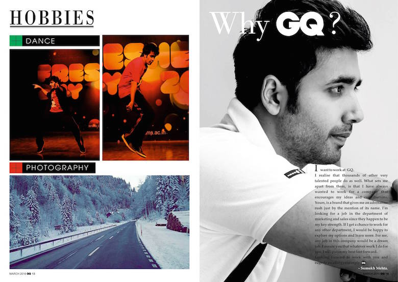 This Guy S Magazine Style Resume Got Him An Internship At
