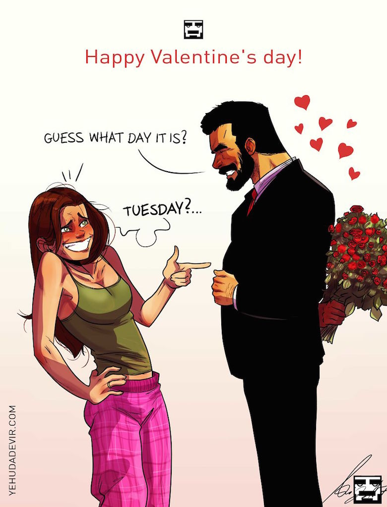 Husband Wife Funny Images : husband, funny, images, Artist, Shares, Everyday, Using, Comic, Illustrations