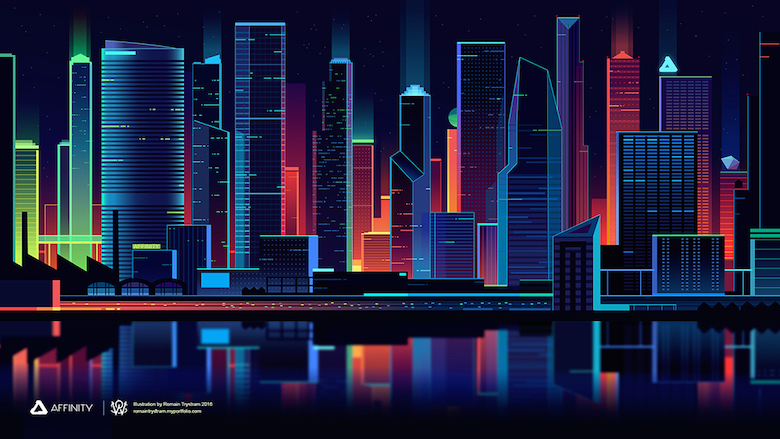 3d Glass Full Hd Wallpaper Beautiful Vibrant Illustrations Of City Skylines Made
