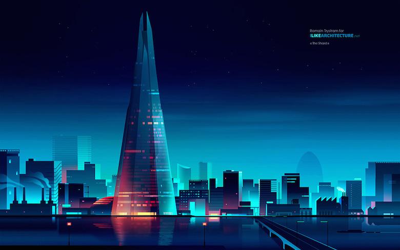 Beautiful Vibrant Illustrations Of City Skylines Made