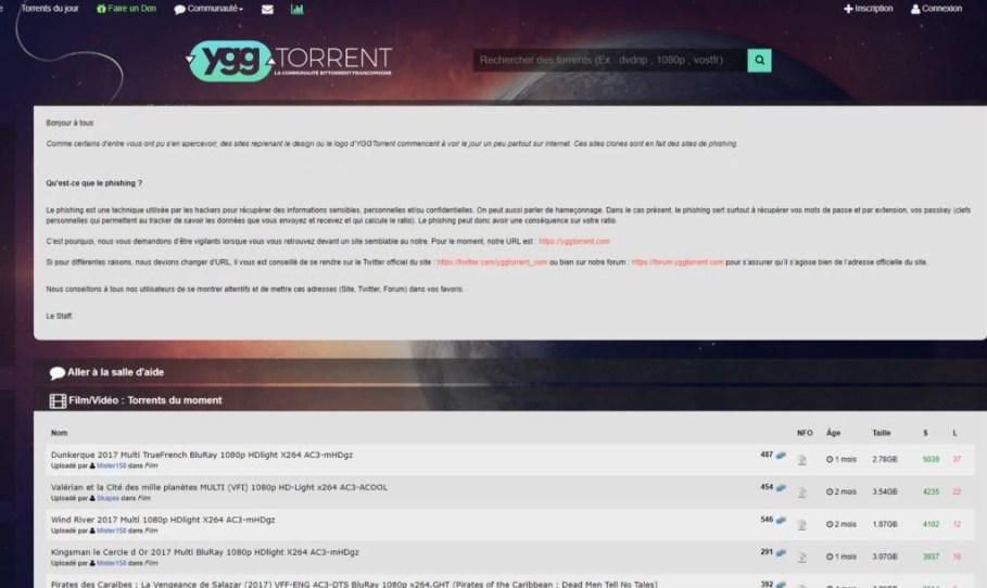 yggtorrent-Torrent Français