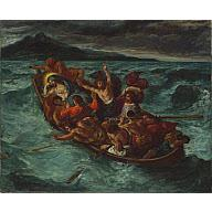 Eugene Delacroix Christ on the Sea of Galilee