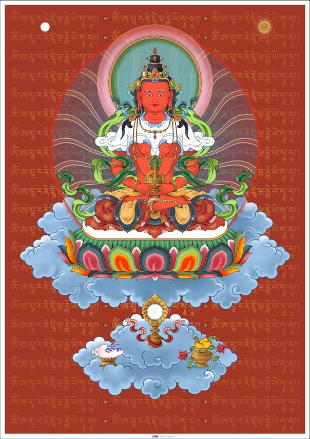 Amitayus with mantra