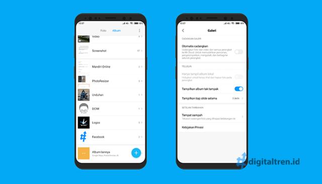 Cara Menggunakan Album Tersembunyi di Xiaomi