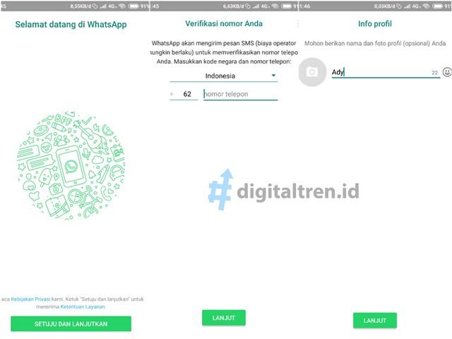 Cara Mudah Mendaftar Akun WhatsApp di Hp