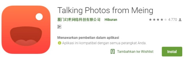download Talking Photos from Meing