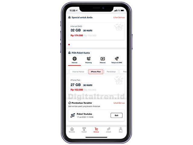 Beli Paket Internet iPhone Plan Telkomsel