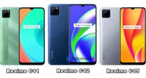 Perbedaan Realme C11, C12 dan C15