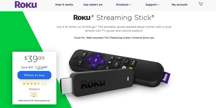 2017 Roku Streaming Stick and Stick+ Are Currently on Sale