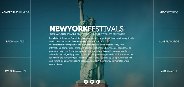 2019 New York Festivals (NYF) Awards Now Open for Entries