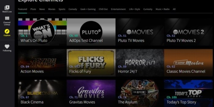 Pluto TV's 8 New Channels to Offer Highly-Curated Content