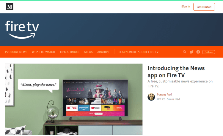 Amazon's News App Launches For Amazon Fire Tablets and TVs, To Be Ad-Supported