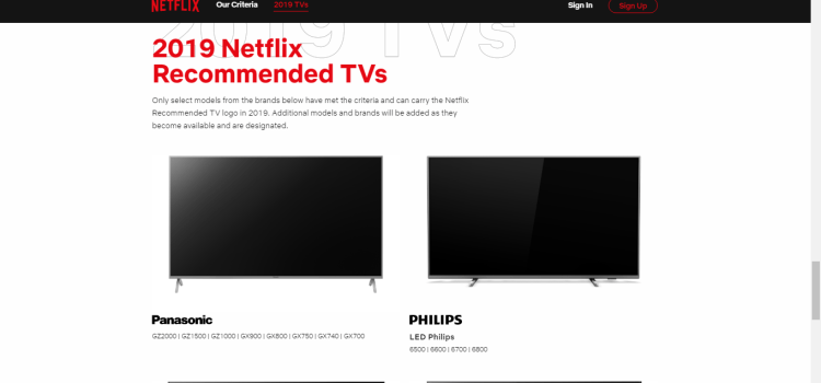 Netflix to Discontinue Support For Older Vizio Smart TV Models