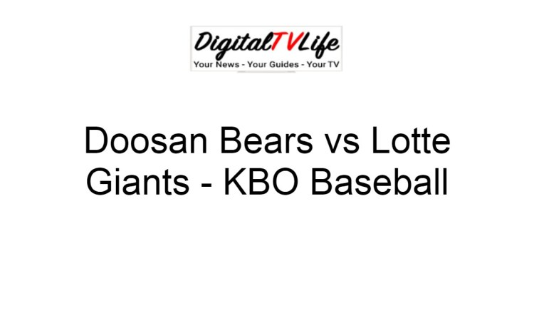Doosan Bears vs Lotte Giants