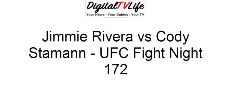 Jimmie Rivera vs Cody Stamann