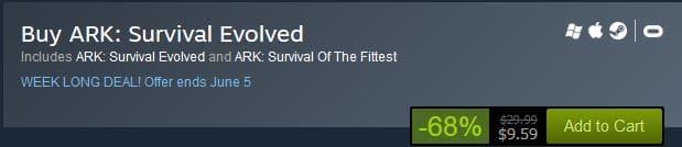 Ark Survival Update - Steam Sale