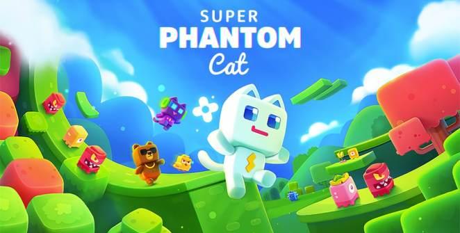 Super Phantom Cat Retro Platformer Title