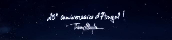 Nouvelle campagne céleste, pour les 20 ans du parfum Angel de Thierry Mugler